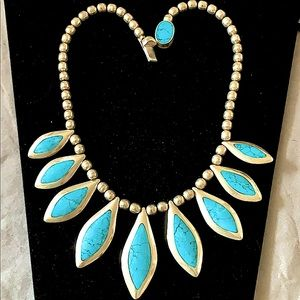 Necklace Turquoise & onyx authentic 925 sterling